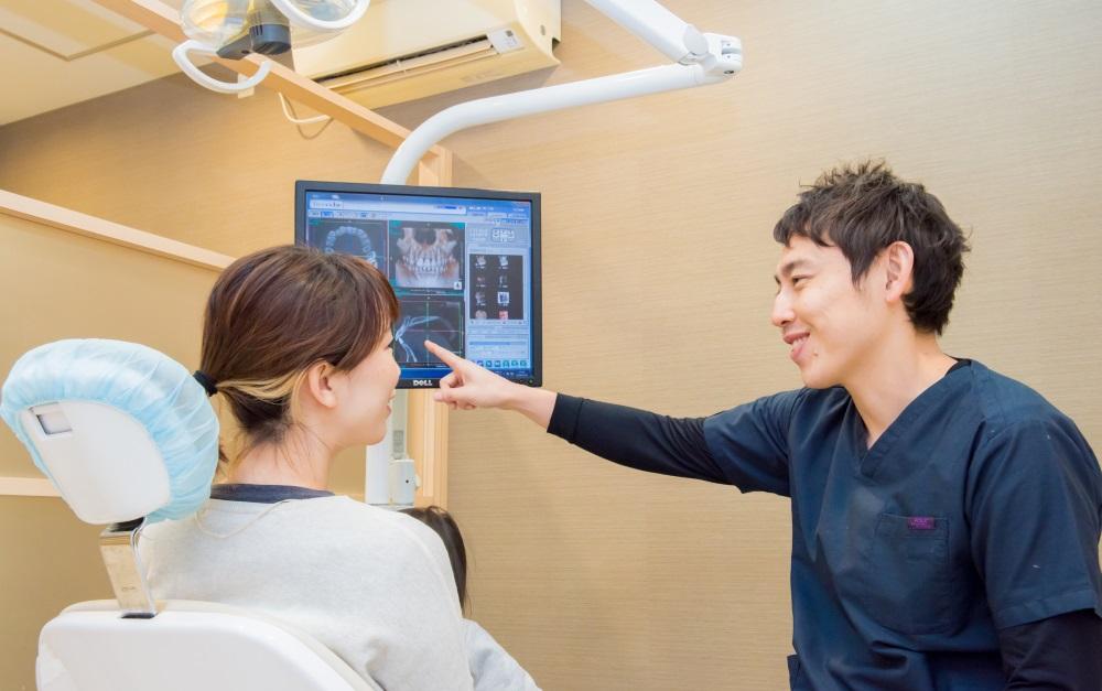 ご自身の口腔内を把握するための丁寧な説明・カウンセリング